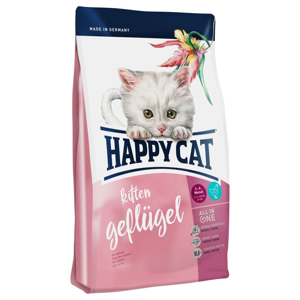 INOpets.com Anything for Pets Parents & Their Pets Happy Cat Kitten Poultry Dry Food - 4kg