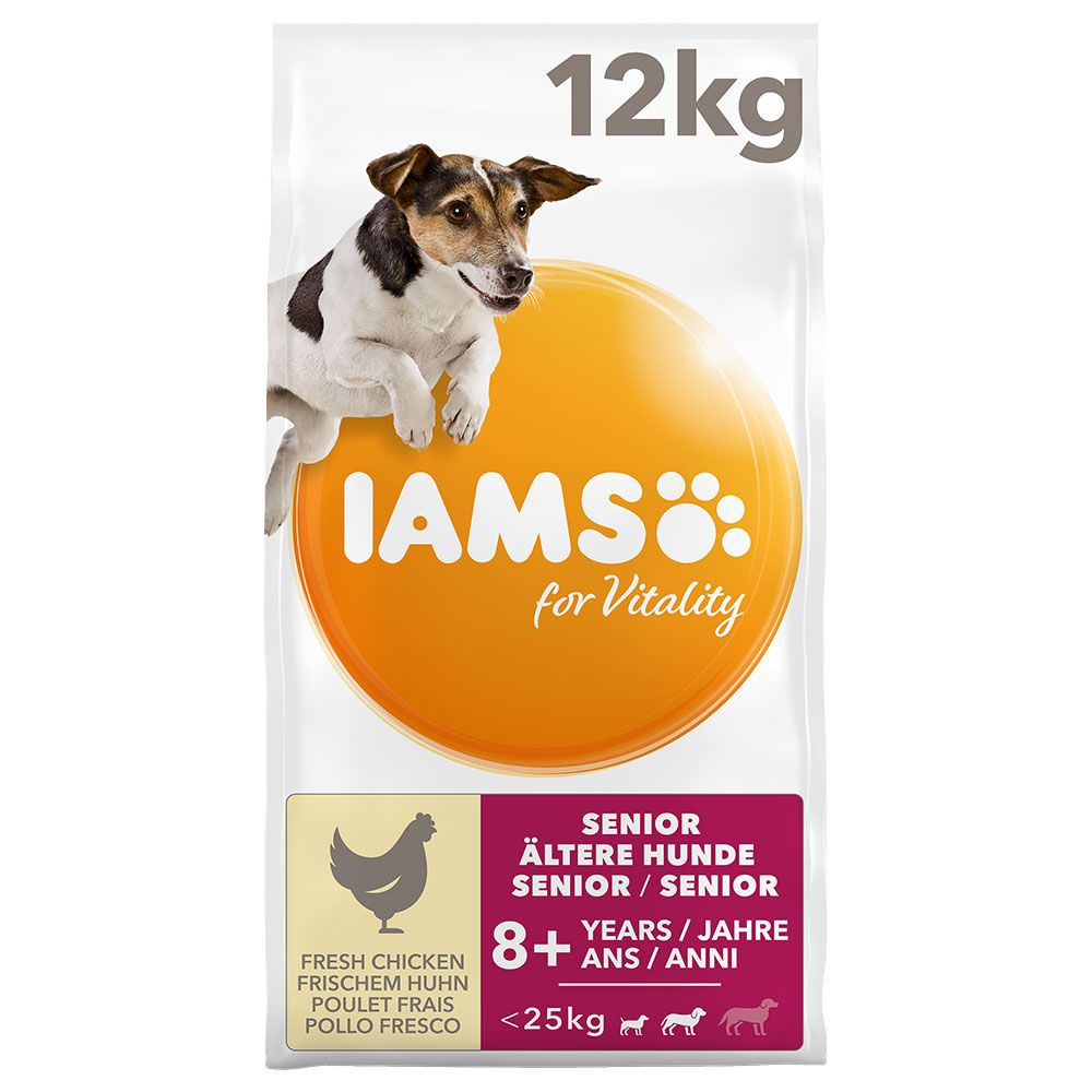 Chicken Small Medium Senior Mature for Vitality IAMS Dry Dog Food