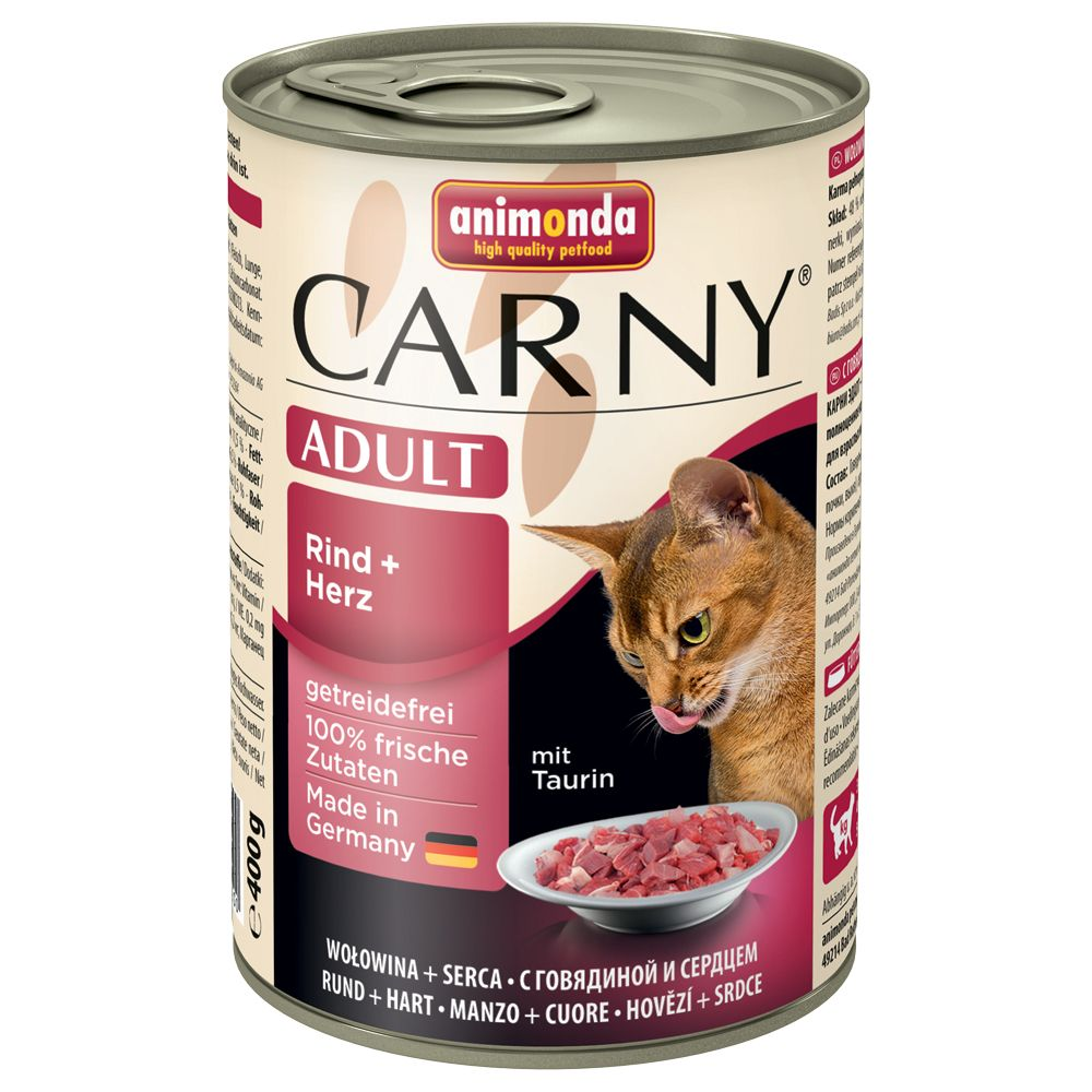 Animonda Carny 6 x 400 g - Adult: Rind & Lamm