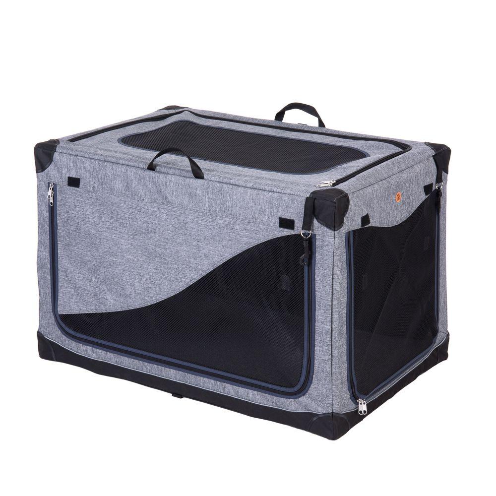 Portable Pet Home - Size XL: 106 x 71 x 68.5 cm (L x W x H) - Grey