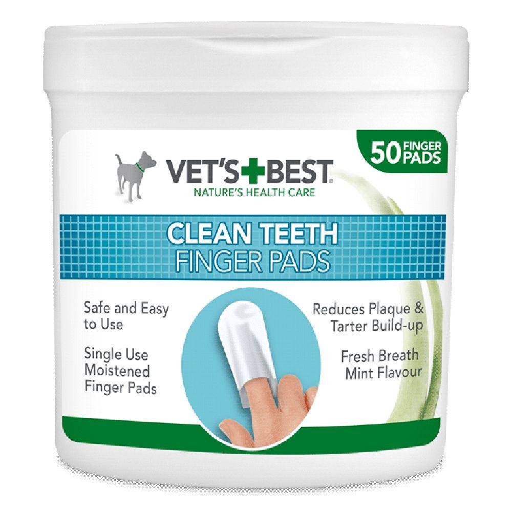 50 doigtiers jetables Vet's Best® Clean pour les dents - pour chien