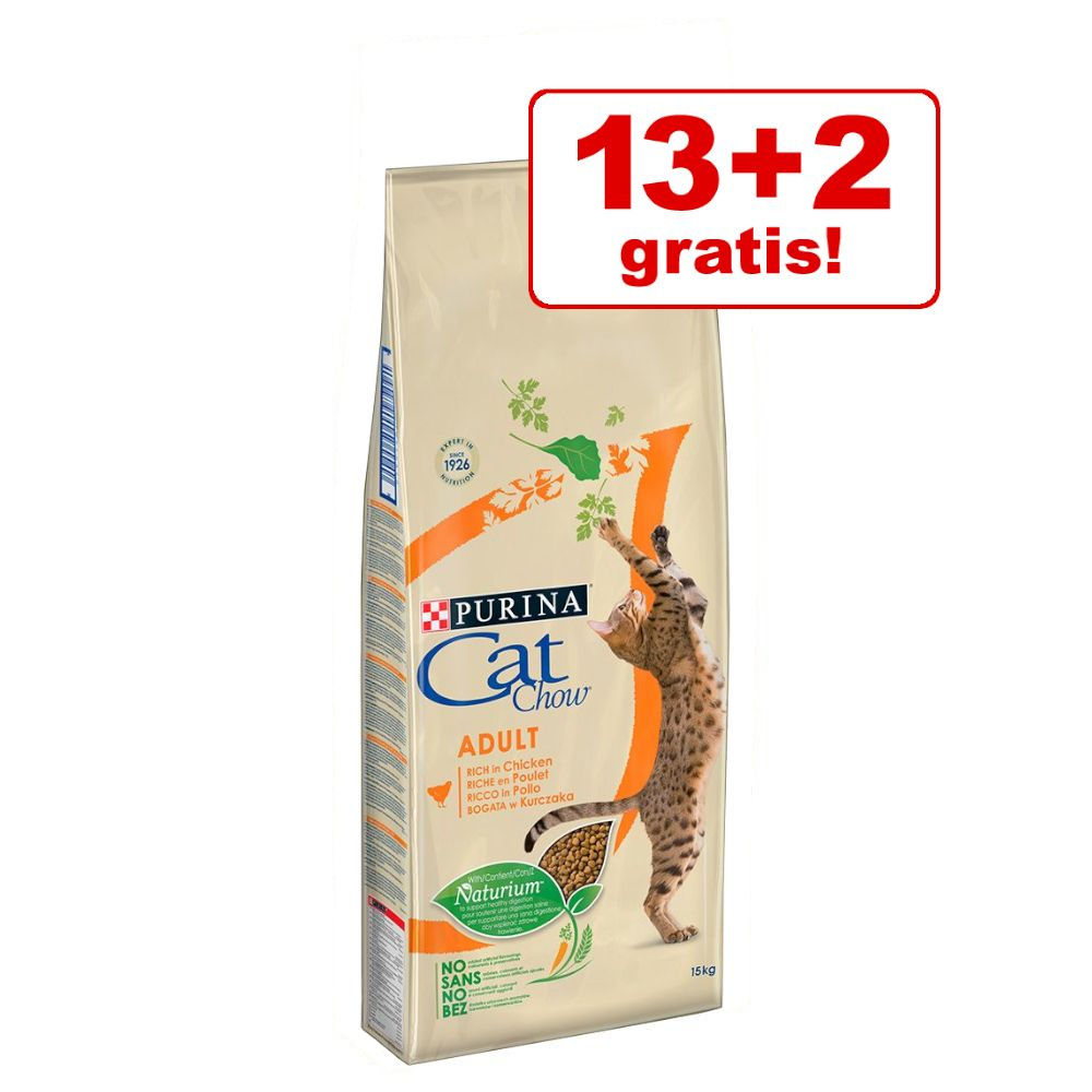 13 + 2 kg på köpet! 15 kg Cat Chow Adult Special Care Sterilized