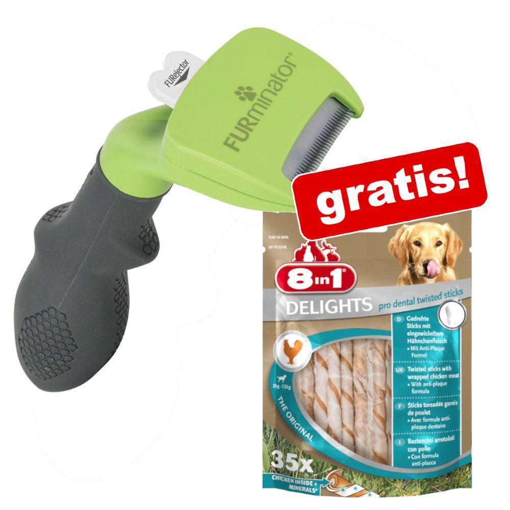 FURminator + 190 g 8in1 Pro Dental Twisted Sticks på köpet! - M kort päls