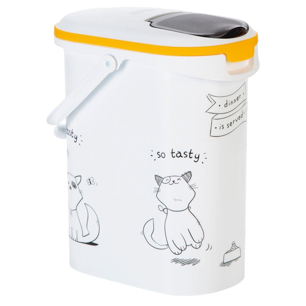 Curver Trockenfutterbehälter Katzensilhouette - bis 12 kg Trockenfutter