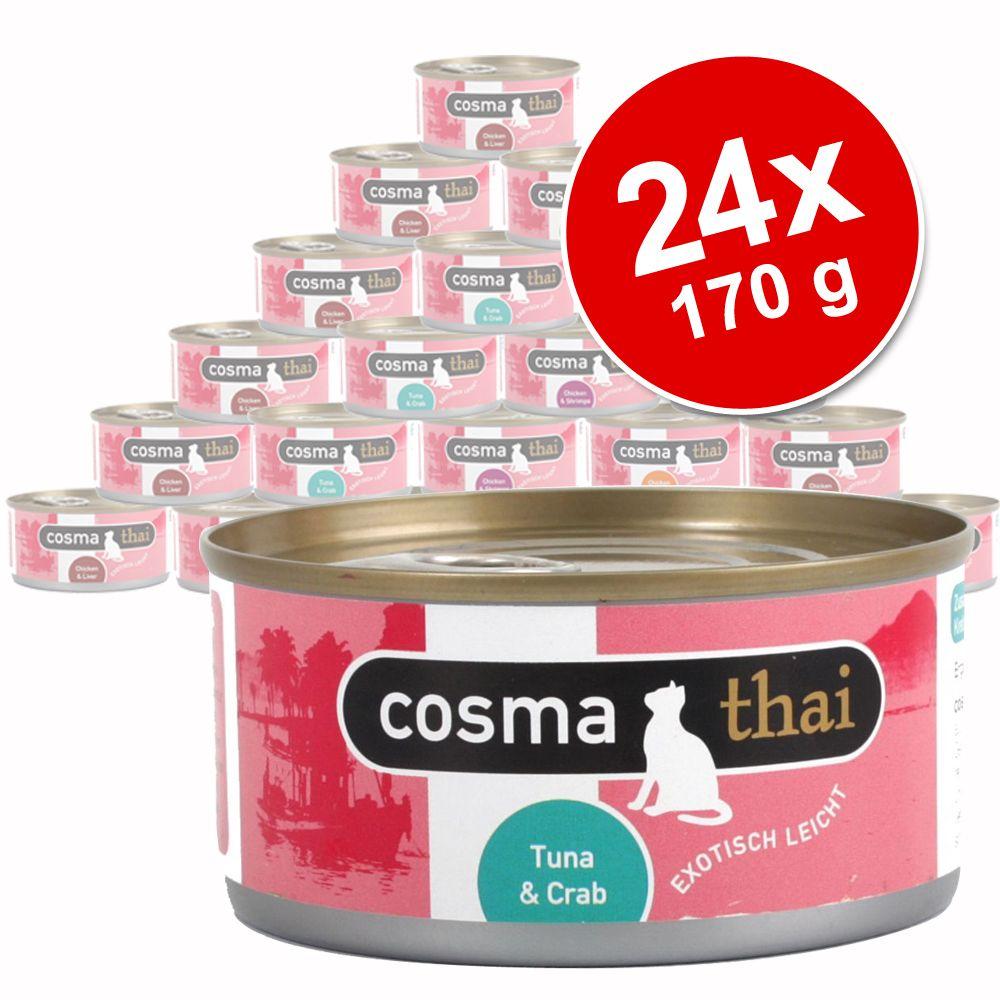 Megapakiet Cosma Thai, 24 x 170 g - Kurczak z tuńczykiem