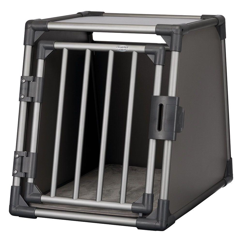 Trixie Transportbox Aluminium graphit - M-L: B 61 x T 86 x H 65 cm