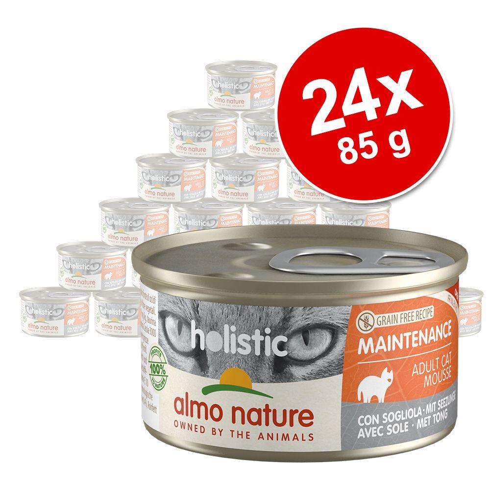 Ekonomipack: Almo Nature Holistic Maintenance 24 x 85 g - Med skinka