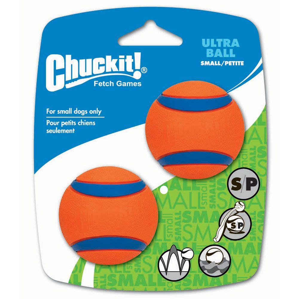 2 Balles Ultra Ball Chuckit taille S 5,1 cm de diamètre - Jouet pour chien