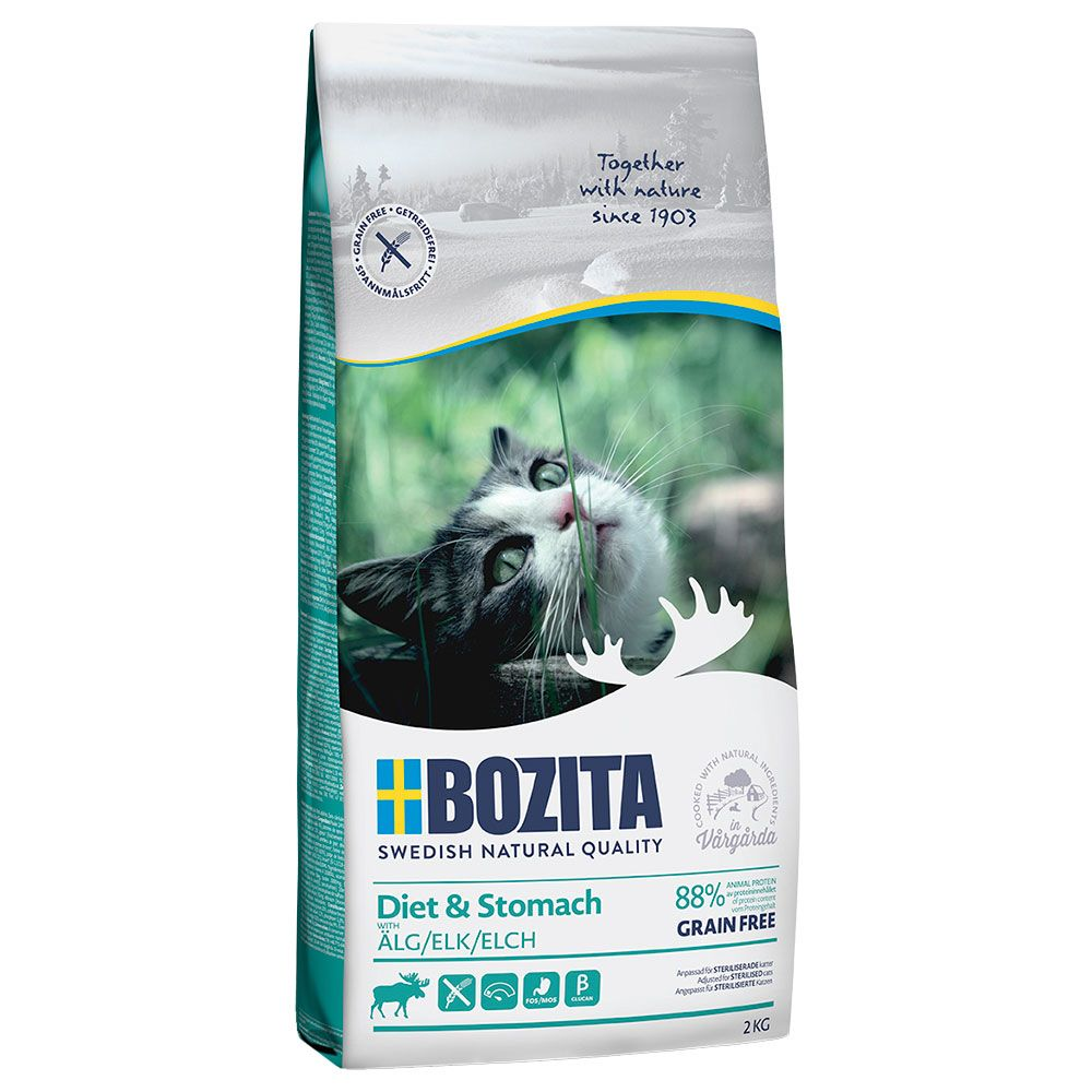 2x10kg Elk Diet & Stomach Grain Free Bozita Dry Cat Food