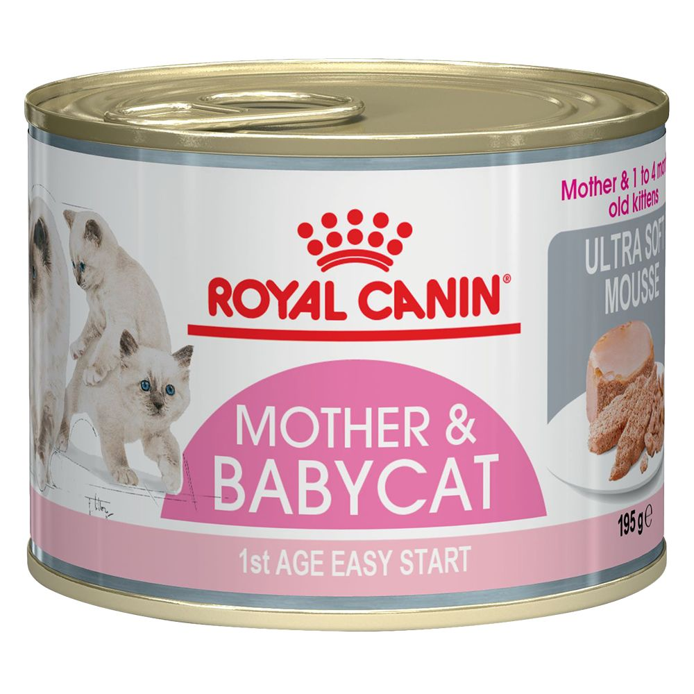 Royal Canin First Age Mother & Babycat Mousse Saver Pack: 24 x 195g