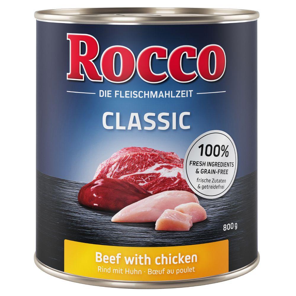 Rocco Classic, 6 x 800 g - Wołowina z sercami drobiowymi