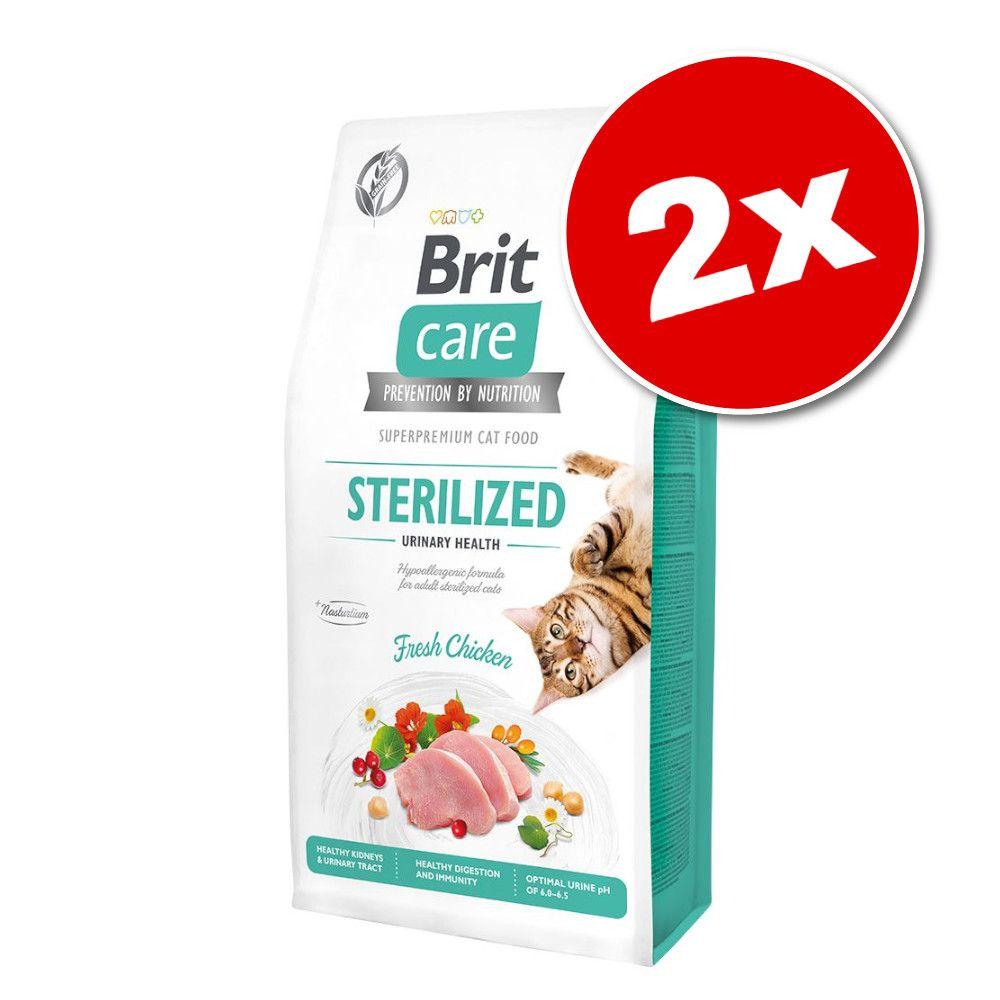 2x7kg Brit Care sans céréales Sterilized Urinary Health - Croquettes pour chat