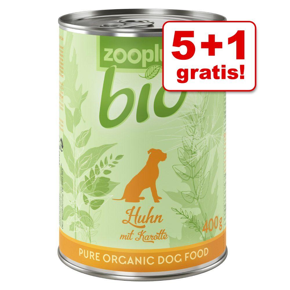 5 + 1 gratis! 6 x 800 g zooplus Bio - Tacchino con Miglio
