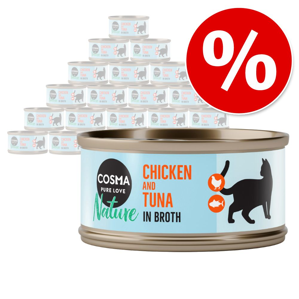 Upp till 15 % rabatt på Cosma Nature ekonomipack 24 x 70 g - Kycklingfilé
