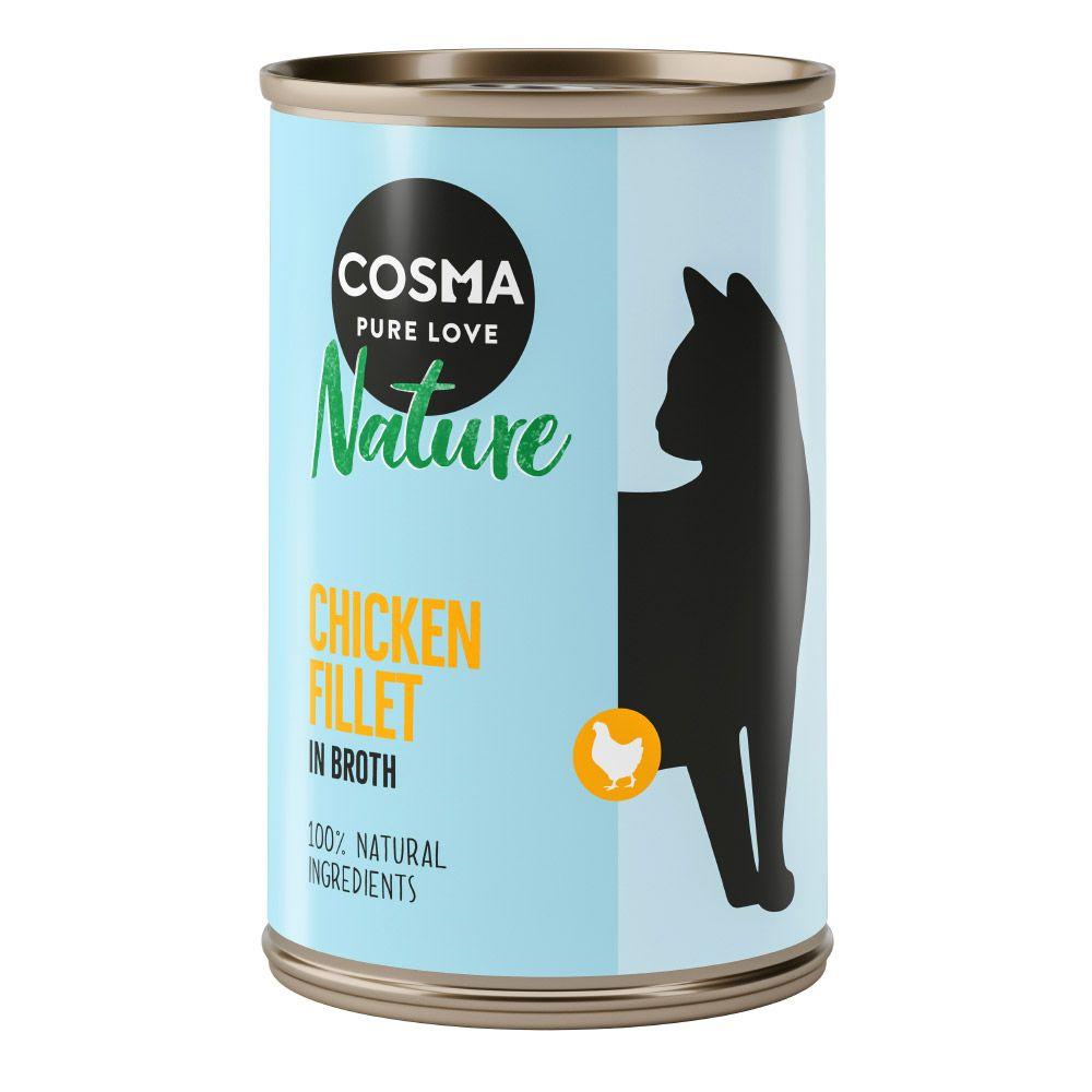6x140g poulet / jambon de poulet Cosma - Nourriture pour Chat