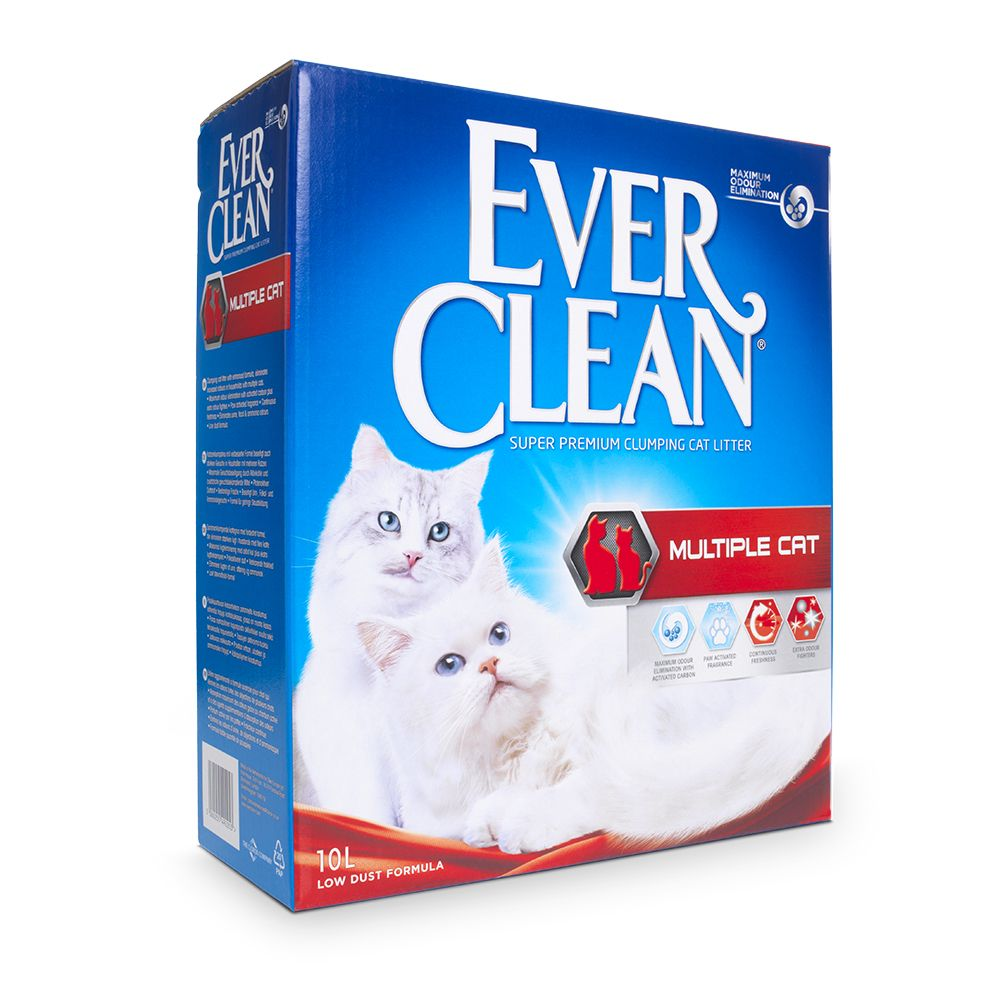 Ever Clean® Multiple Cat Clumping kattsand - Ekonomipack: 2 x 10 l