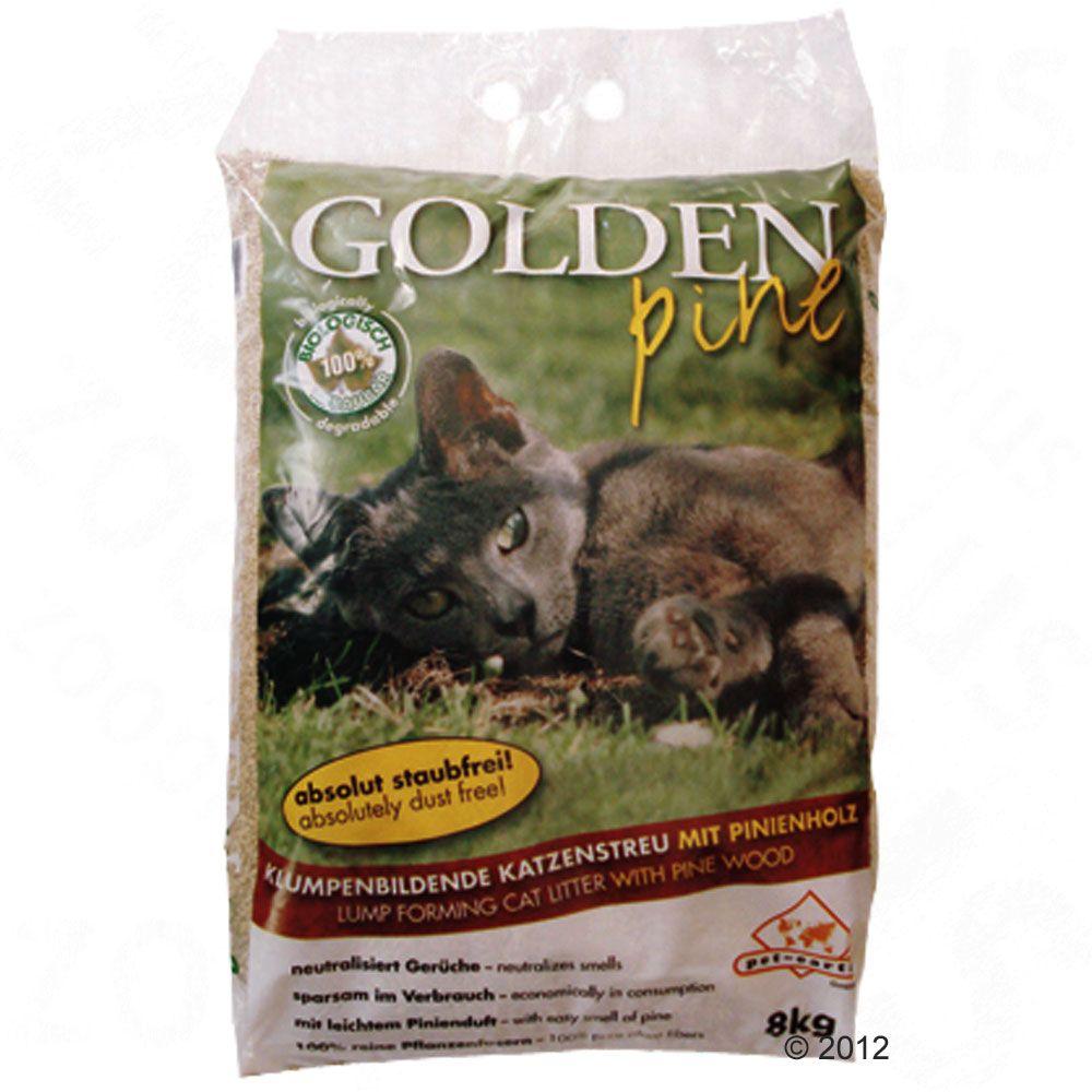 Sparpaket: 3 x 8 kg Golden Pine Katzenstreu