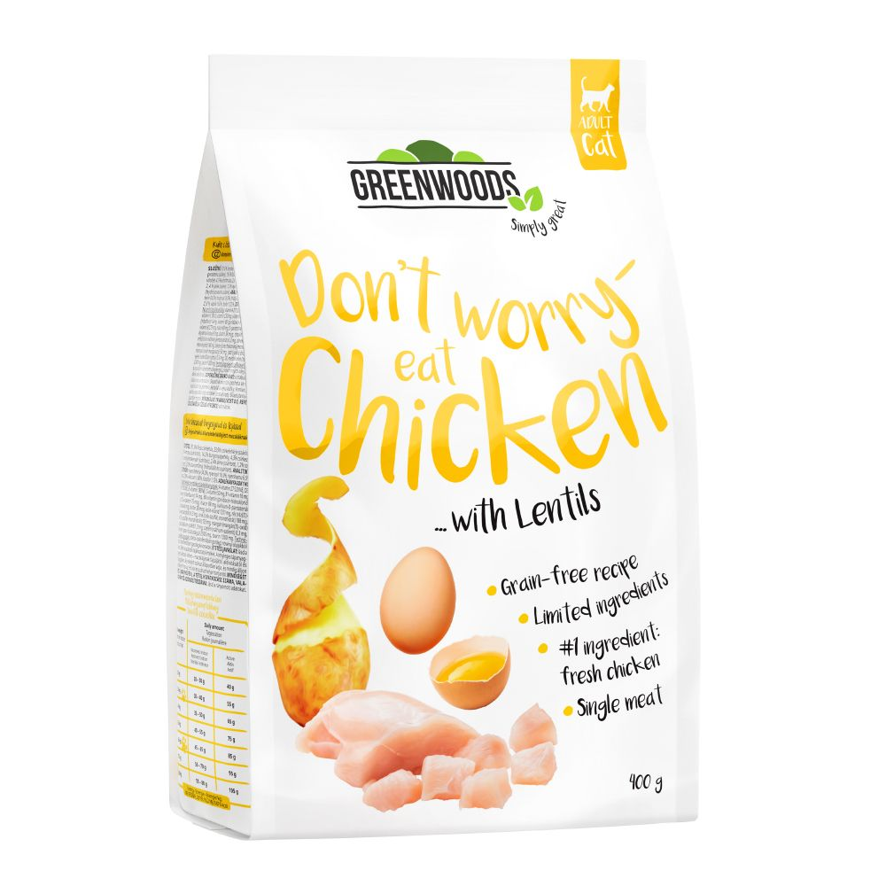 Greenwoods Chicken with Lentils, Potato & Egg Ekonomipack: 3 x 3 kg