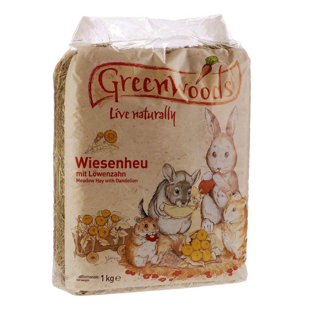 Greenwoods Meadow Hay 3kg - 3 x 1kg Carrot