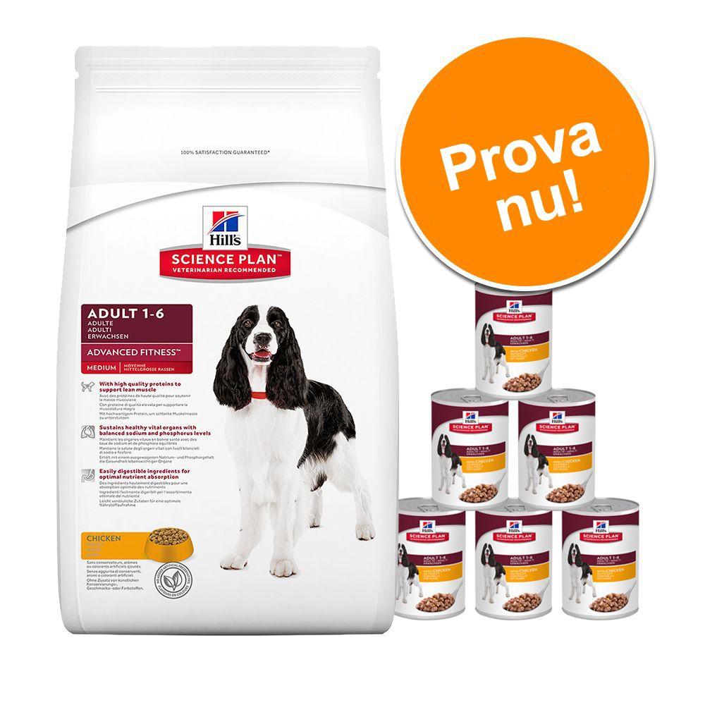 Kombipack: Hill's Canine torr- och våtfoder - Mature Adult Senior Mini (7,5 kg) + 6 x 370 g