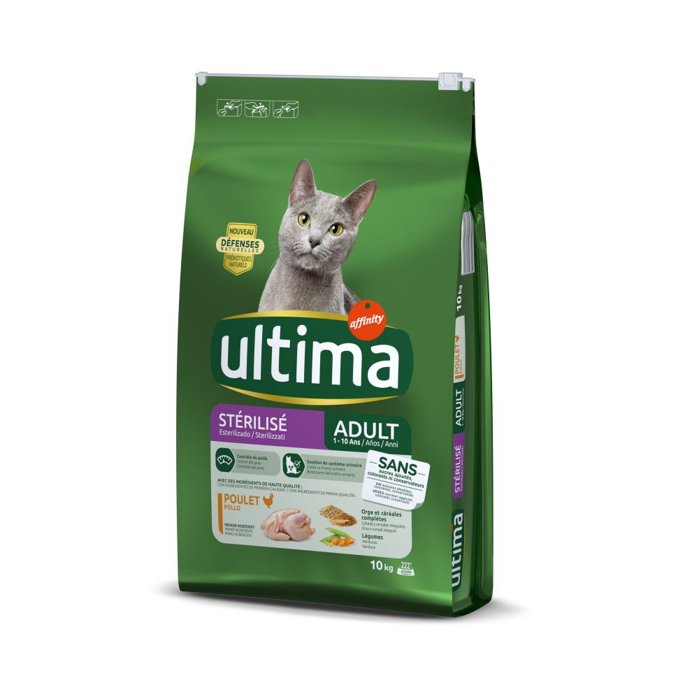 Ultima Cat Sterilized Chicken & Barley - Ekonomipack: 2 x 7,5 kg
