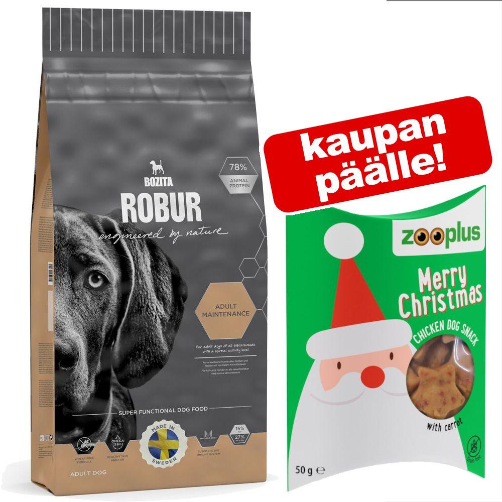 Bozita Robur -koiranruoka + koiranherkut 50 g kaupan päälle! - Sensitive Single Protein Lamb & Rice (15 kg)