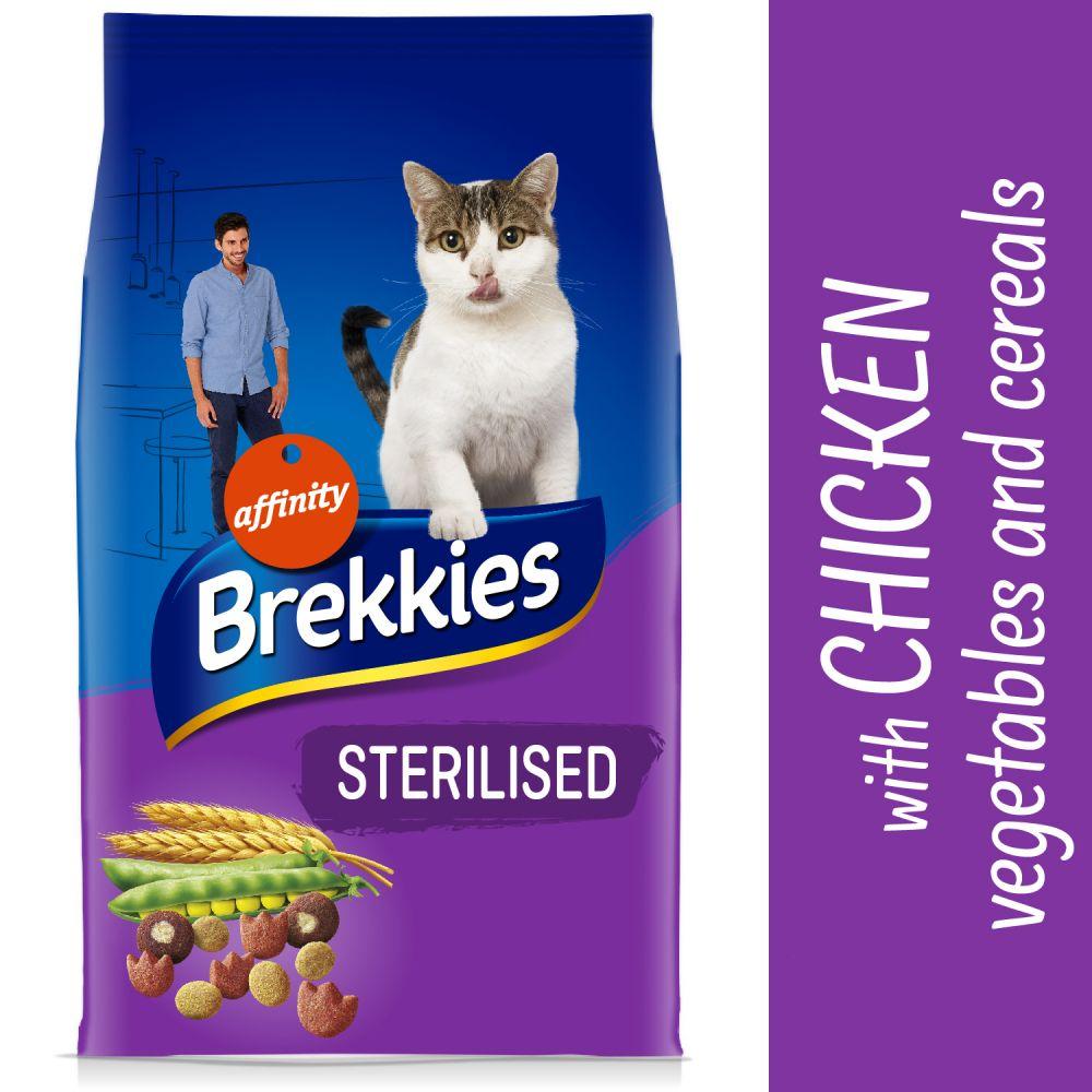 Brekkies Sterilized pour chat - 4 x 3 kg