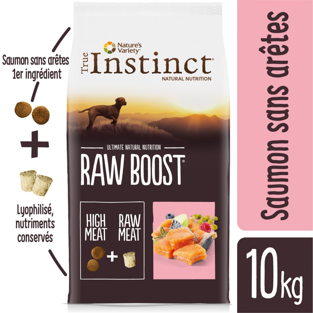 True Instinct Raw Boost saumon pour chien - 2 x 10 kg