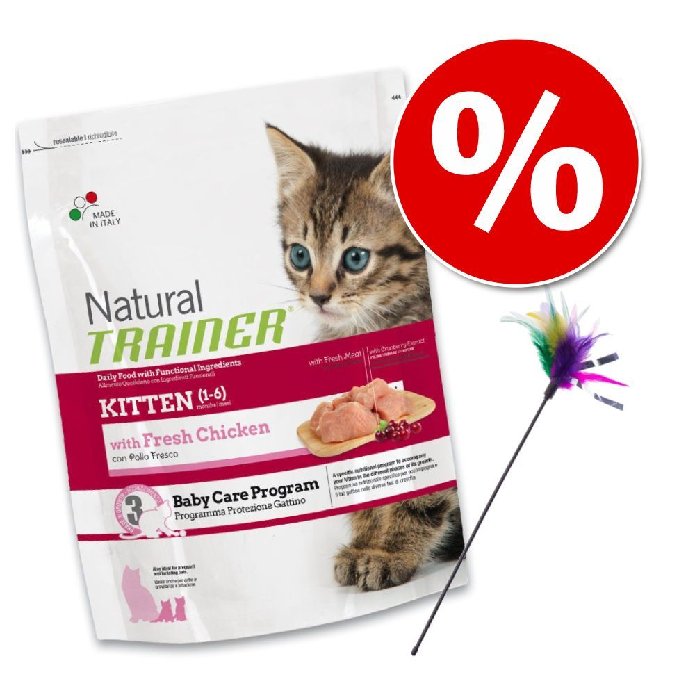 Image of Welcome Kit Kitten Trainer Natural - 1,5 kg + 3 Cannette con piume