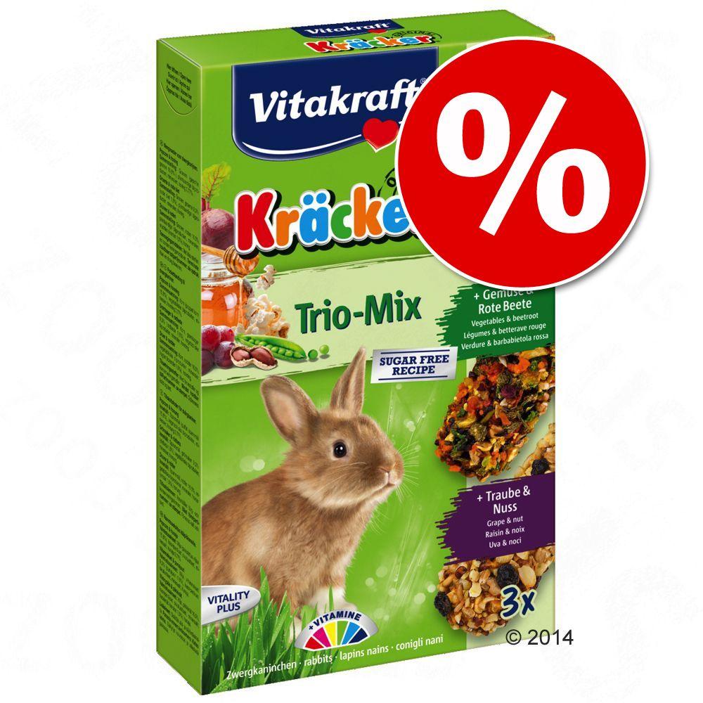 Image of Prezzo speciale! 3 x 3 pz Vitakraft cracker conigli nani - Trio Mix - Verdure, noci, frutti di bosco
