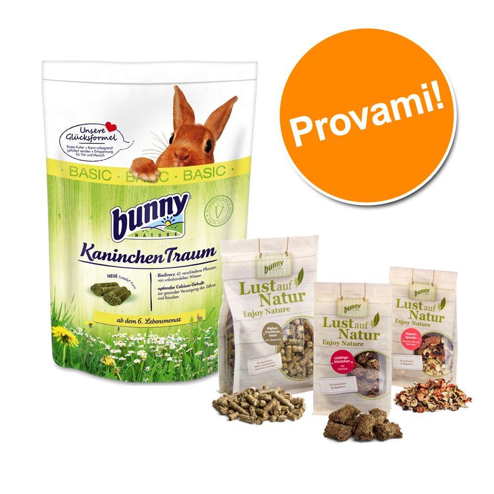 Set prova misto! Cibo + Snack Bunny per conigli nani - 1,5 kg