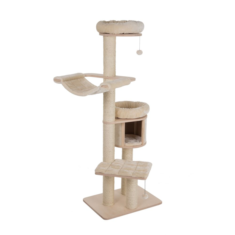 Natural Paradise Cat Tree - XL Compact - Light Grey