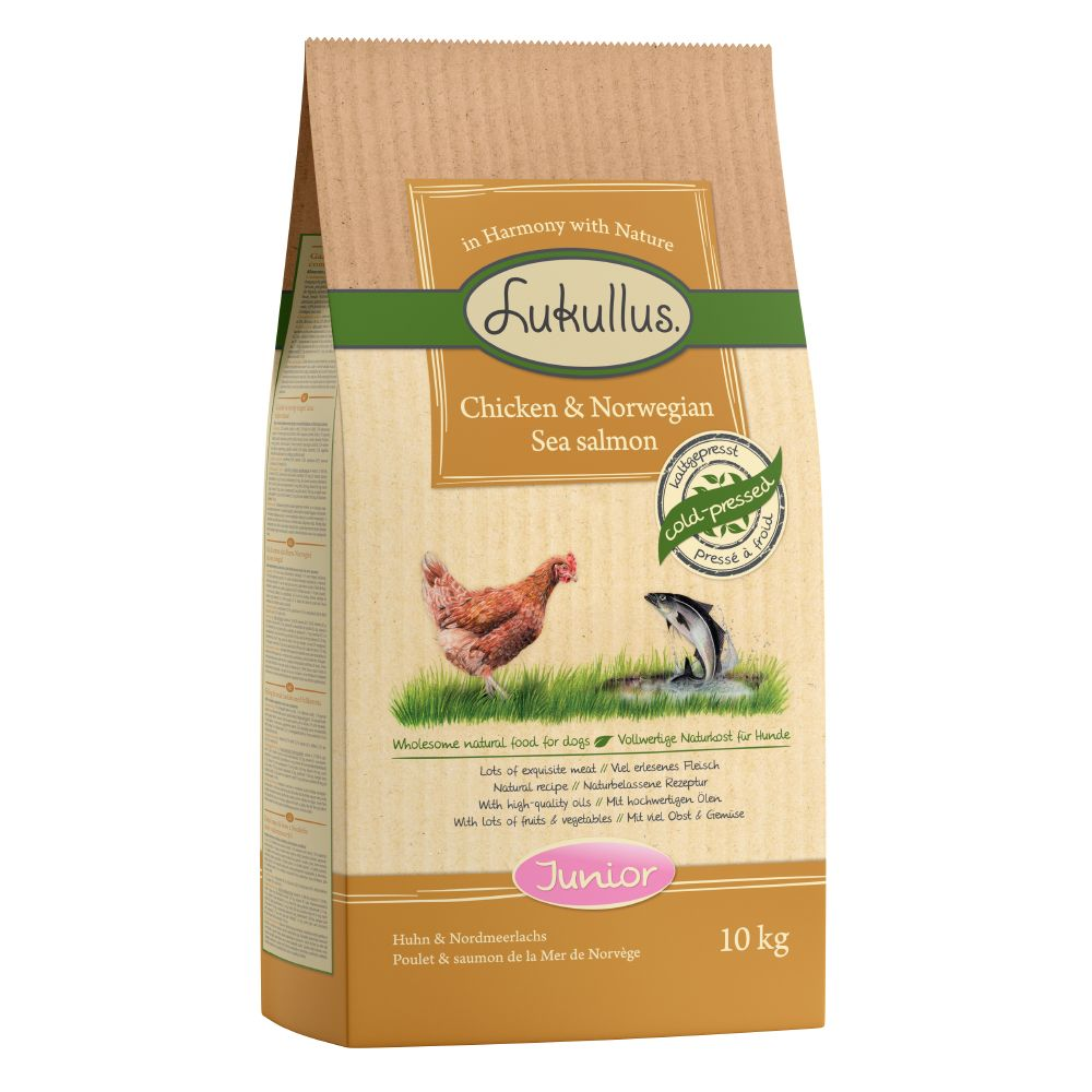 2x10kg Junior Chicken & Northern Wild Salmon Lukullus Dry Dog Food