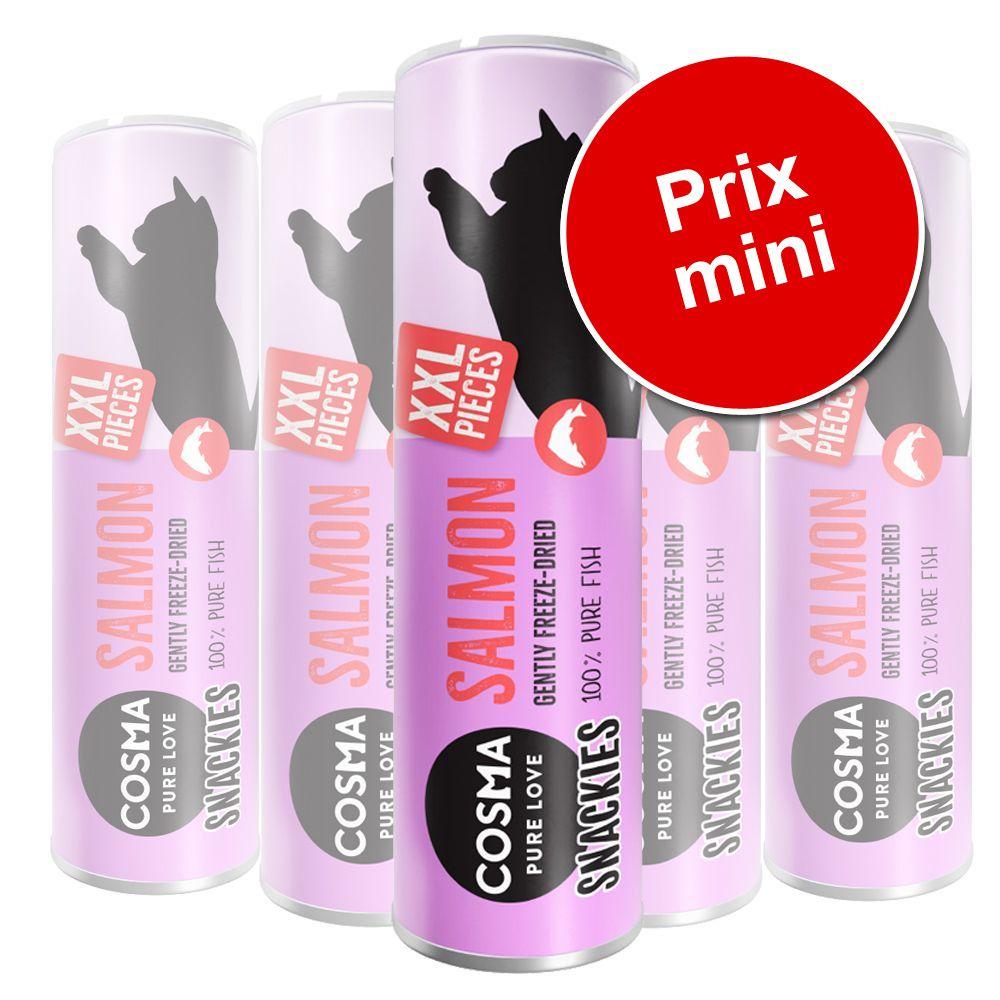 5x Cosma Snackies XXL poisson blanc - Friandises lyophilisées pour chat