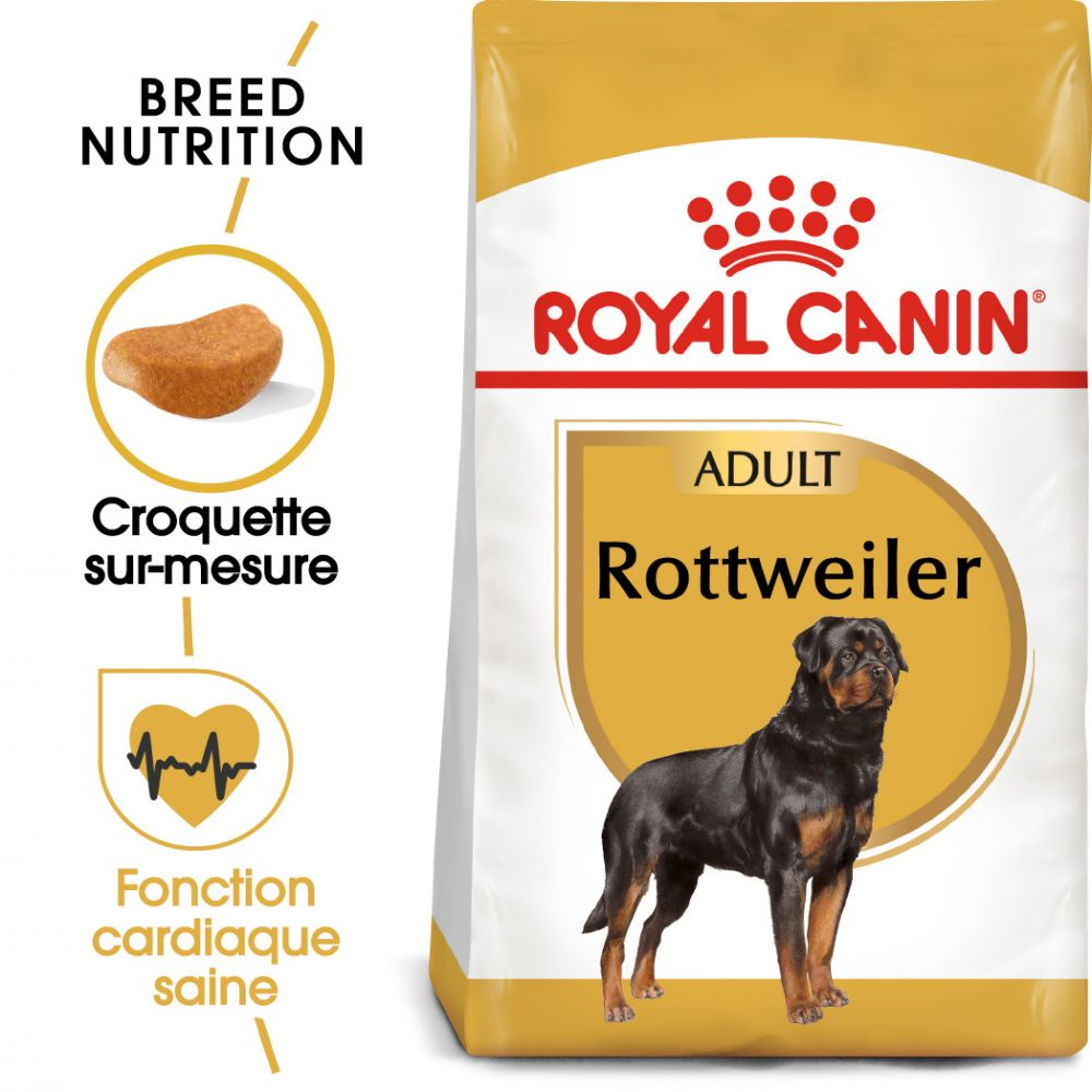 2x12kg Breed Rottweiler Adult Royal Canin - Croquettes pour chien