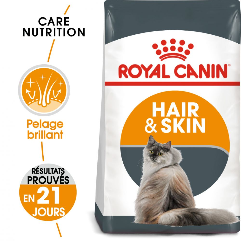 2kg Hair & Skin Care Royal Canin pour chat