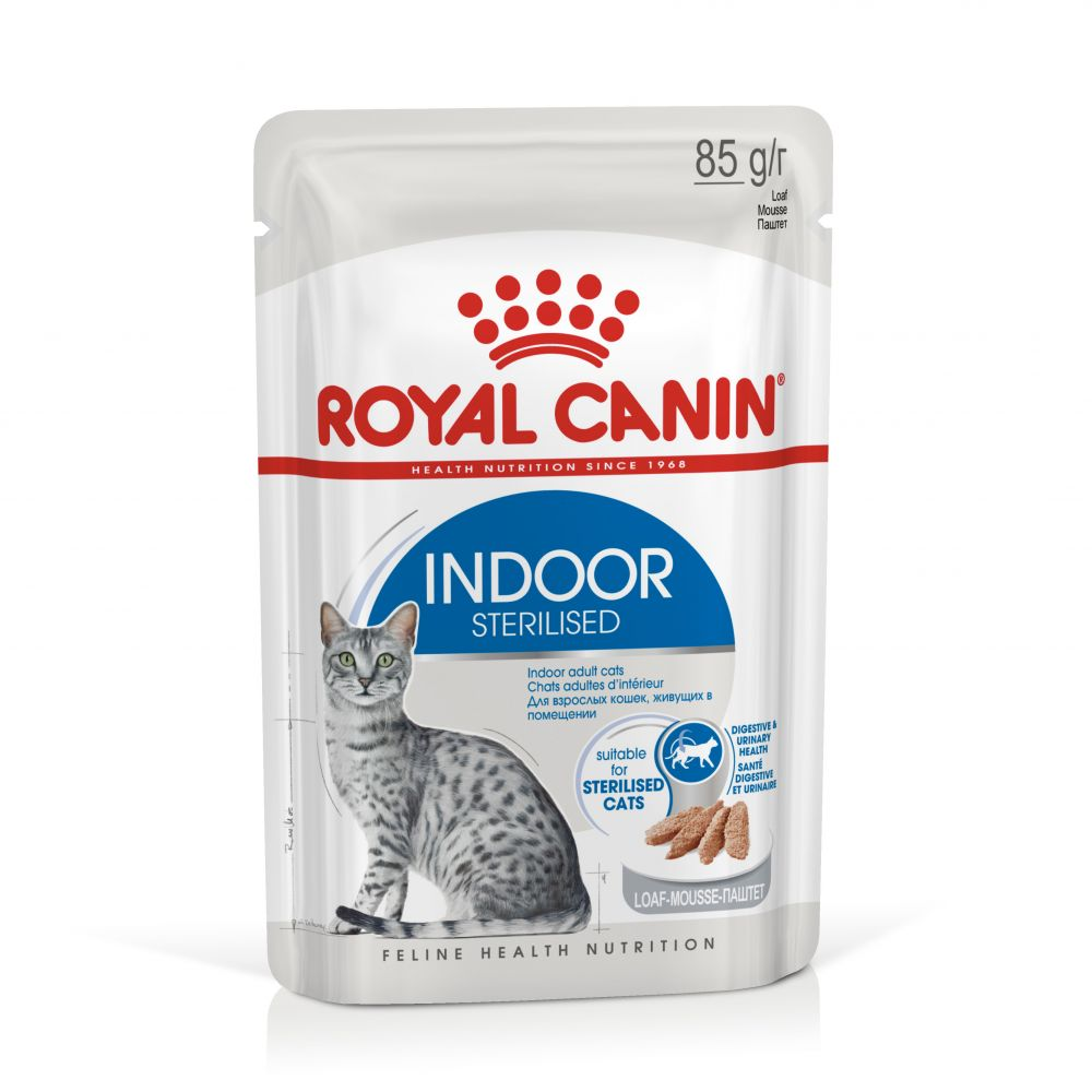 Royal Canin Indoor Sterilised Mousse - 96 x 85 g