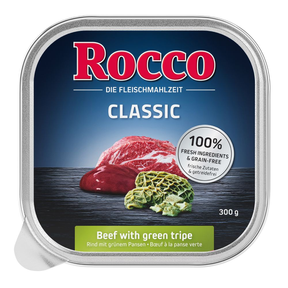 Beef Green Tripe Poultry Hearts Classic Trays Mixed Pack Rocco Wet Dog Food