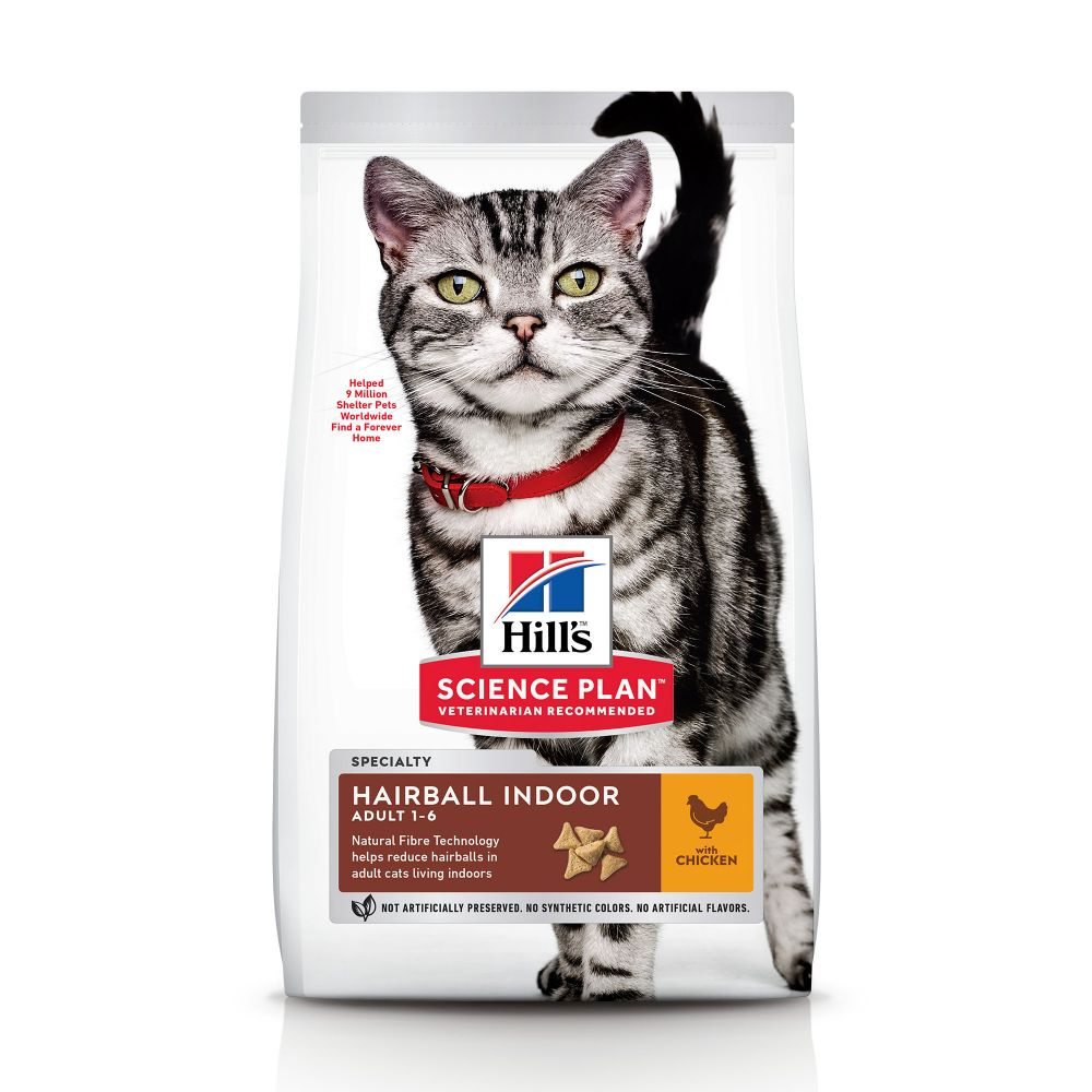 Hill's Science Plan Mature Adult Hairball & Indoor Chicken Ekonomipack: 2 x 1,5 kg