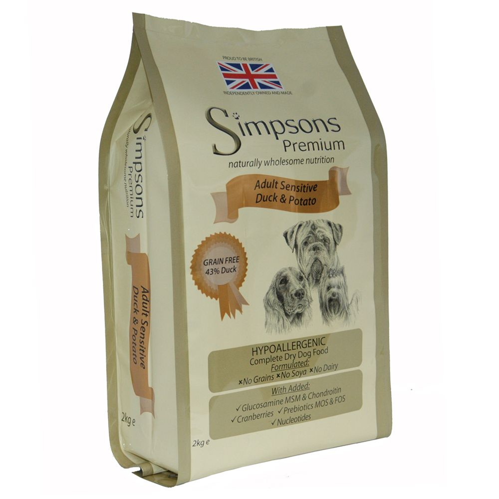 Simpsons Premium Sensitive Adult Dog - Duck & Potato - Economy Pack: 2 x 12kg