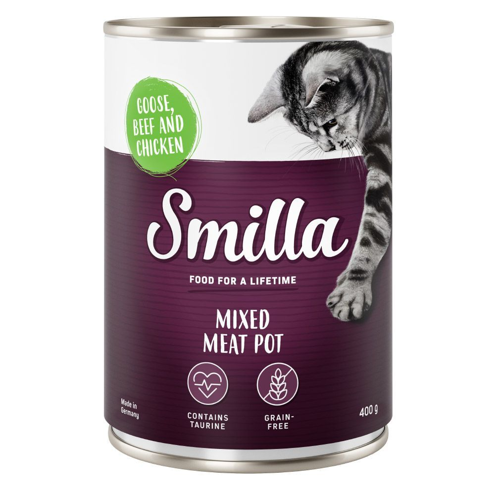 6x400g Tender Meat Mix Trial Pack Smilla Wet Cat Food