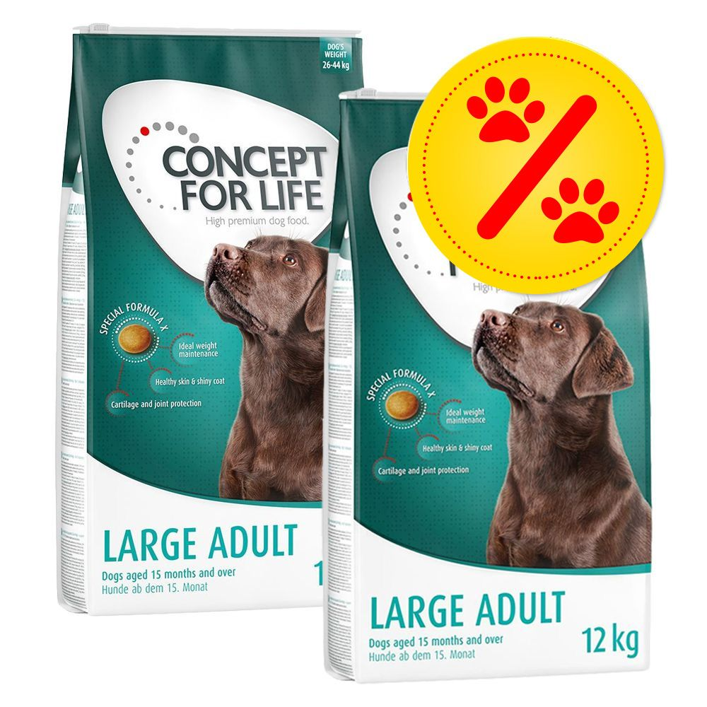 Image of Doppelpack: 2x Concept for Life - Golden Retriever Adult (2 x 12 kg)