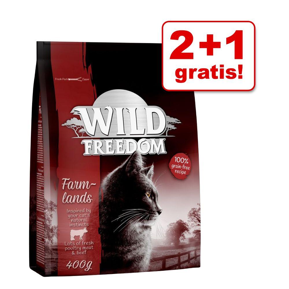 2 + 1 på köpet! 3 x 400 g Wild Freedom torrfoder - Wild Hills - Duck