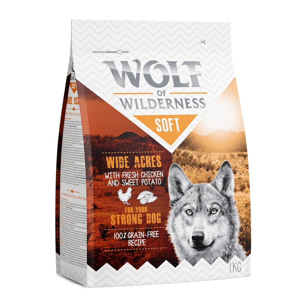 Chicken Beef Lamb Mixed Pack Semi-Moist Wolf of Wilderness Dry Dog Food