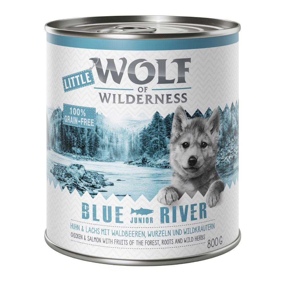 6x800g Junior Duck & Veal Wild Hills Wolf of Wilderness Wet Dog Food