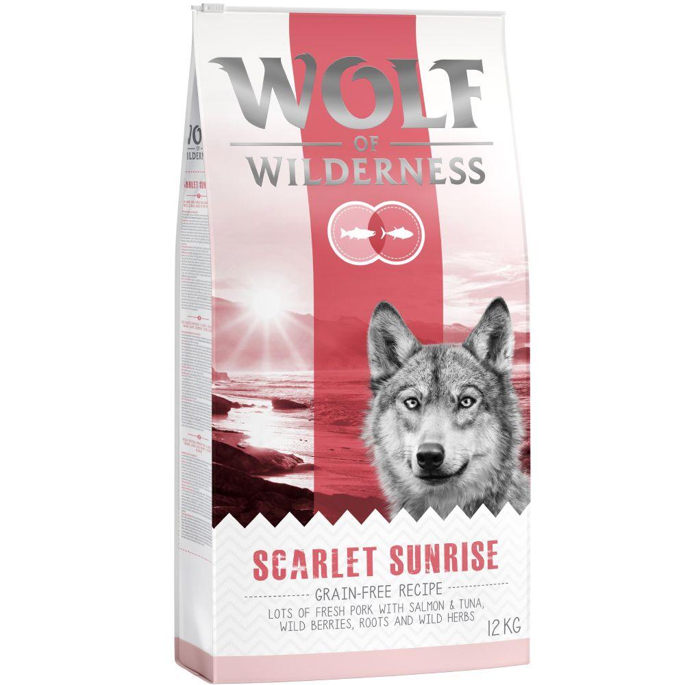 12kg Wolf of Wilderness Scarlet Sunrise saumon, thon - Croquettes pour chien