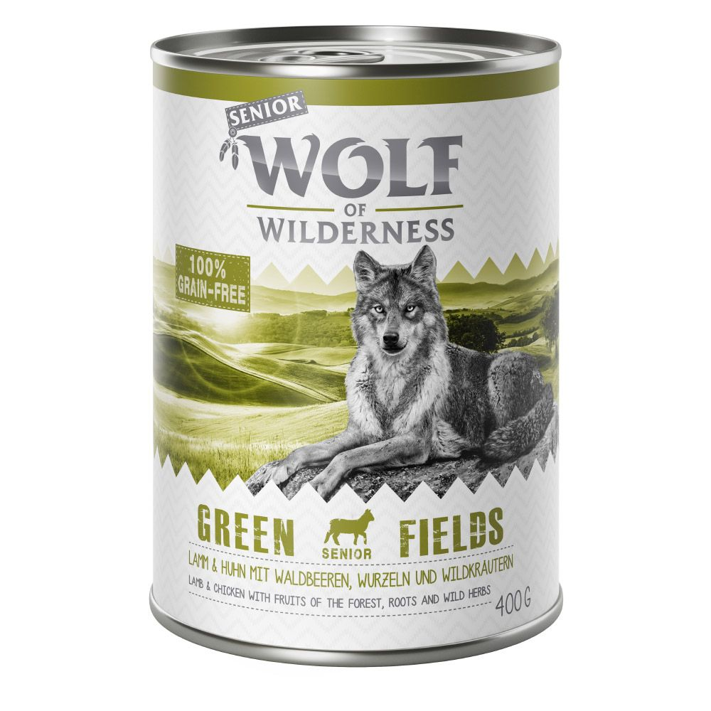 Senior Lamb & Chicken Green Fields Wolf of Wilderness Wet Dog Food