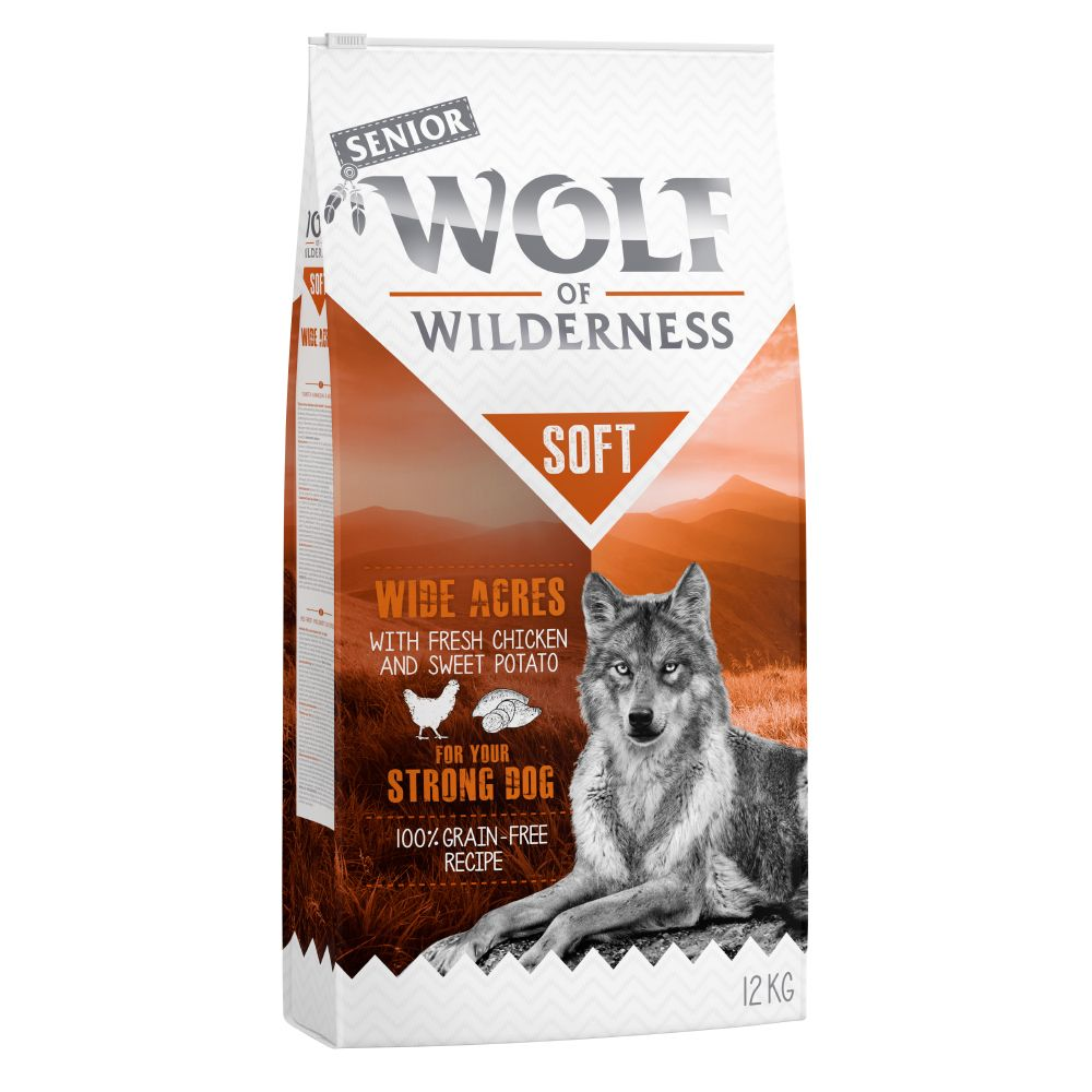 2x12kg Senior Chicken Soft Wolf of Wilderness Wide Acres Dry Dog Food