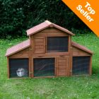The Outback Rabbit Hutch Castle features a large run that can be individually adapted and extended with the detachable sides. Doors at the front a drawer bottom tr...