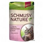 Schmusy Nature Pouches 12 x 100g - Kitten: Salmon, Lamb, Rice & Fish Oils